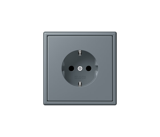 LS 990 in Les Couleurs® Le Corbusier | socket 4320H gris 59 by JUNG | Schuko sockets
