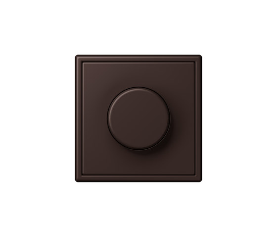 LS 990 in Les Couleurs® Le Corbusier | rotary dimmer 4320J terre d'ombre brûlée 59 by JUNG | Rotary switches
