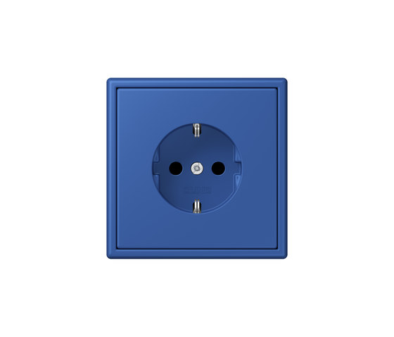 LS 990 in Les Couleurs® Le Corbusier | socket 4320K bleu outremer 59 by JUNG | Schuko sockets
