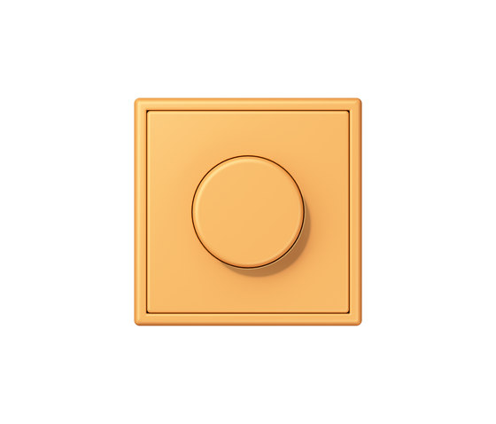 LS 990 in Les Couleurs® Le Corbusier | rotary dimmer 4320L ocre jaune clair by JUNG | Rotary switches
