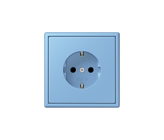 LS 990 in Les Couleurs® Le Corbusier | socket 4320N bleu céruléen 5 by JUNG | Schuko sockets