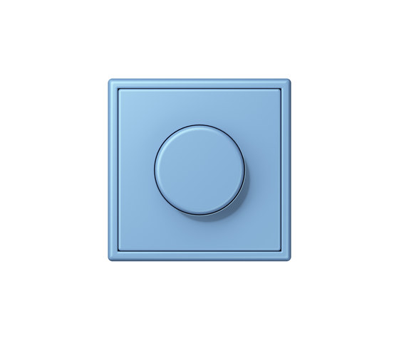 LS 990 in Les Couleurs® Le Corbusier | rotary dimmer 4320N bleu céruléen 5 by JUNG | Rotary switches