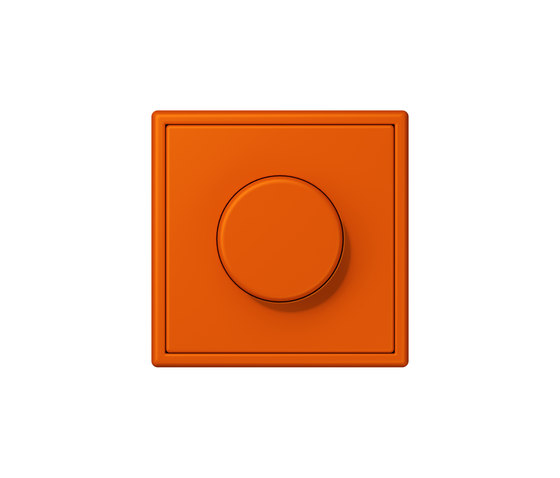 LS 990 in Les Couleurs® Le Corbusier | rotary dimmer 4320S orange vif by JUNG | Rotary switches