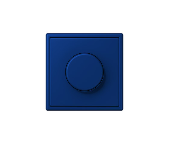 LS 990 in Les Couleurs® Le Corbusier | rotary dimmer 4320T bleu outremer foncé by JUNG | Rotary switches