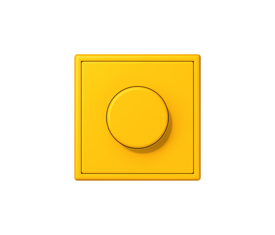 LS 990 in Les Couleurs® Le Corbusier | rotary dimmer 4320W le jaune vif by JUNG | Rotary switches