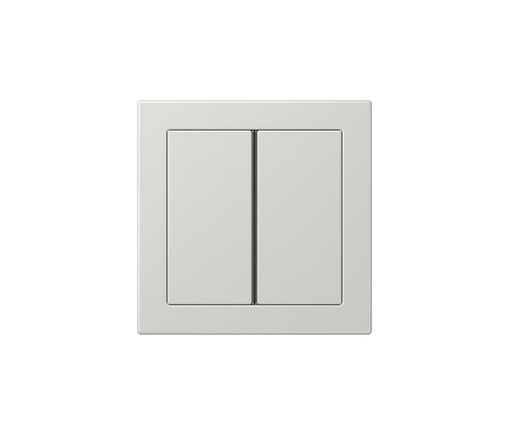 LS Design F40 push button light grey by JUNG | Push-button switches