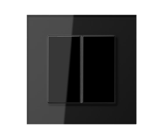 LS Plus   F40 push button black glass by JUNG   Push-button switches
