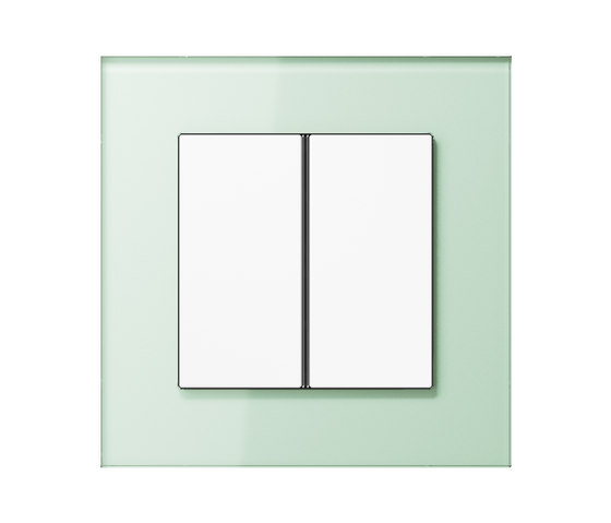 LS Plus F40 push button soft white glass de JUNG | Interruptores pulsadores