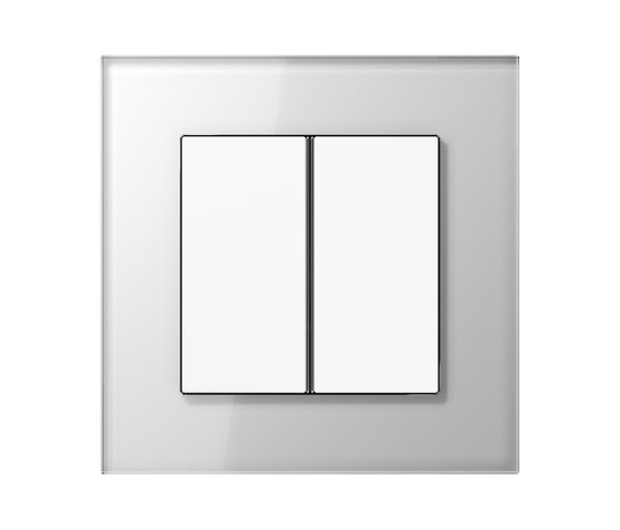 LS Plus F40 push button white glass by JUNG | Push-button switches