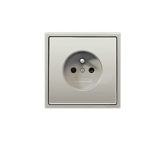 LS 990NFC Standard socket stainless steel by JUNG | Belgian sockets
