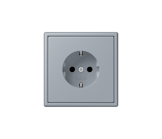 LS 990 in Les Couleurs® Le Corbusier   socket 4320O gris clair 59 by JUNG   Schuko sockets