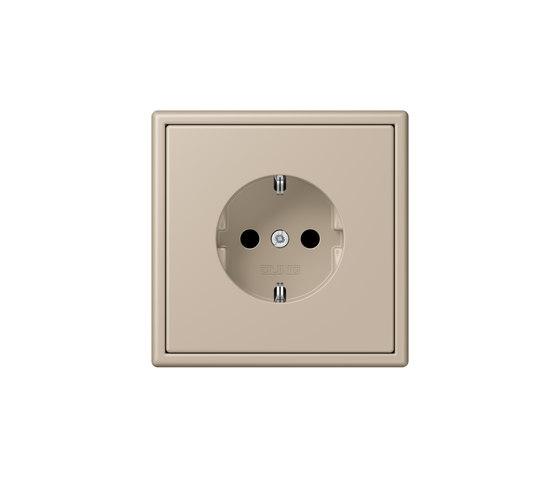 LS 990 in Les Couleurs® Le Corbusier socket 32142 ombre naturelle claire by JUNG | Schuko sockets