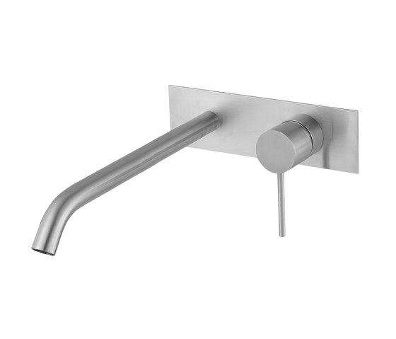 Fasson 40 mm single-lever basin mixer flush-mounted 220, rectangular by CONTI+ | Wash basin taps