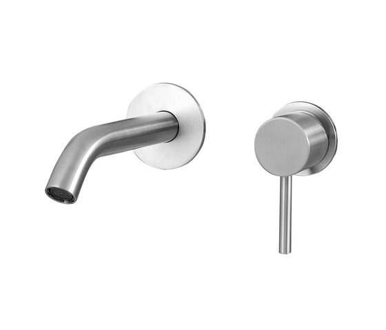 Fasson 40 mm single-lever basin mixer flush-mounted 150, round by CONTI+ | Wash basin taps
