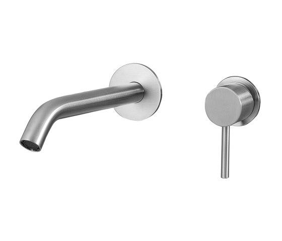 Fasson 40 mm single-lever basin mixer flush-mounted 220, round de CONTI+ | Grifería para lavabos