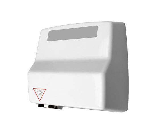 SteelTec Hand dryer, with IR sensor, white, AE de CONTI+ | Secadores de manos