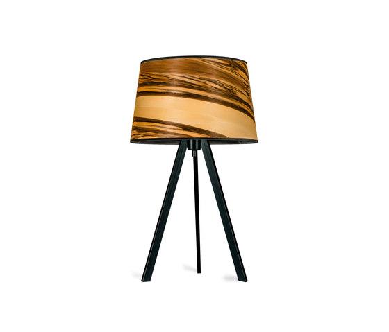 Attica | Satin Nussbaum von LeuchtNatur | Tischleuchten