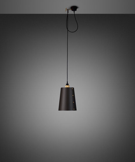 Hooked 1.0 Large   Graphite   Brass by Buster + Punch   Suspended lights