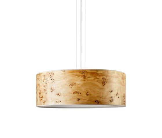 Discus Pendant | Poplar burl de LeuchtNatur | Lámparas de suspensión