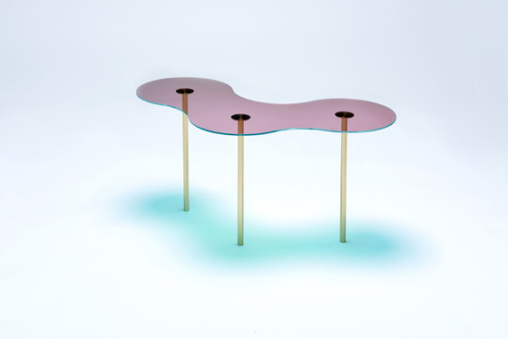 Camo B - Glass - Pink/Green by NEO/CRAFT   Coffee tables