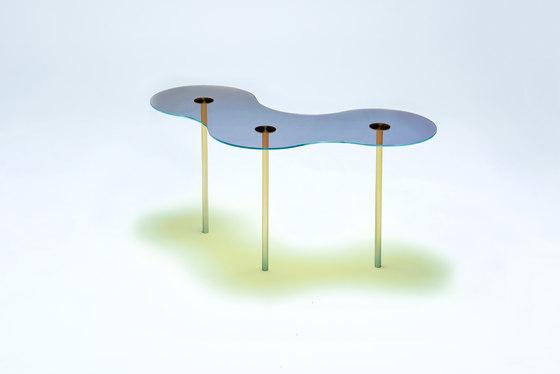 Camo B - Glass - Blue/Orange by NEO/CRAFT | Coffee tables