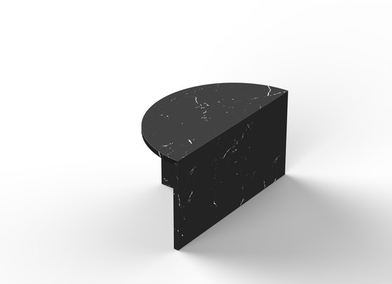 Fifty Circle - marble - Nero Marquina by NEO/CRAFT | Coffee tables