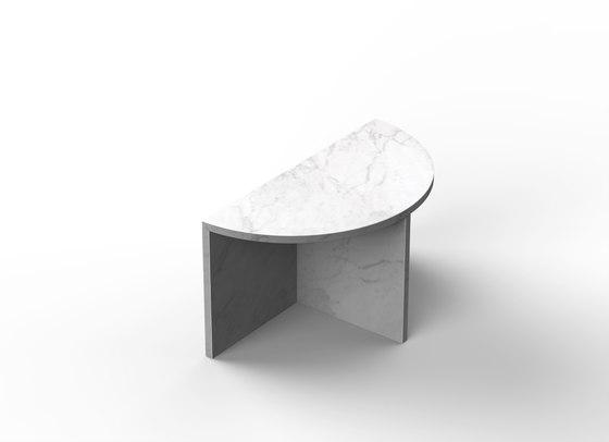 Fifty Circle - marble - Carrara von NEO/CRAFT | Couchtische