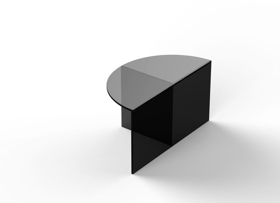Fifty Circle - glass - black by NEO/CRAFT | Coffee tables