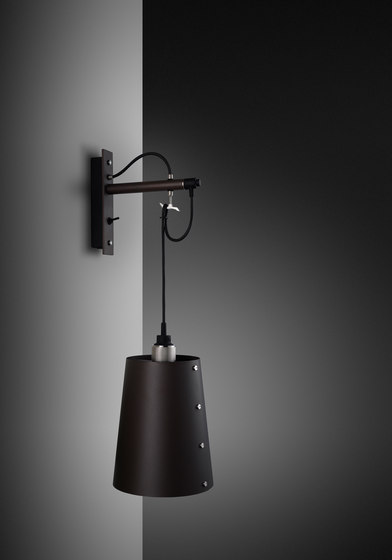 Hooked wall   Large   Graphite   Steel by Buster + Punch   Wall lights