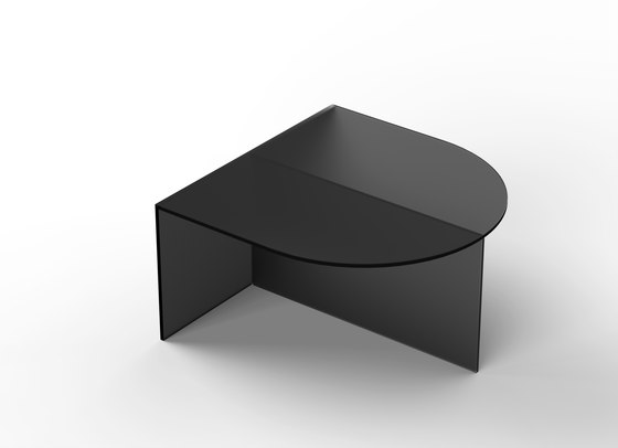 Fifty Oval - glass - black frosted by NEO/CRAFT | Coffee tables