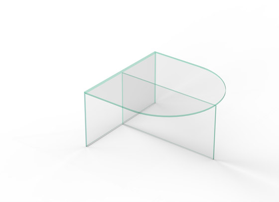 Fifty Oval - glass - clear glass di NEO/CRAFT | Tavolini bassi