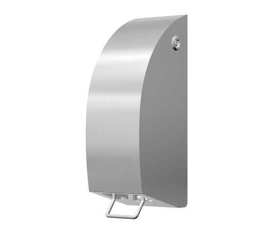SteelTec soap dispenser, manuel, stainless steel, DESIGN de CONTI+ | Dosificadores de jabón