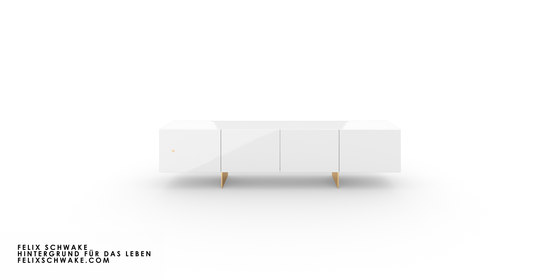 CABINET III-I special edition - Piano lacquer white by Rechteck | Sideboards