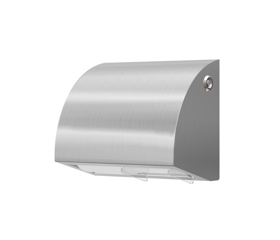 SteelTec toilet paper holder, 2 Standard paper roll, DESIGN by CONTI+ | Paper roll holders