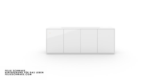 CABINET II-III Numbered and signed edition limited to 6 pieces - Piano lacquer white by Rechteck | Sideboards