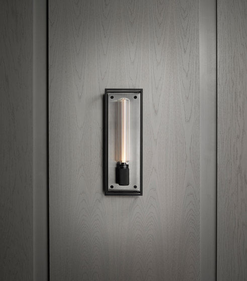 Caged Wall 1.0 Large | Brushed Steel | Buster Bulb Tube by Buster + Punch | Wall lights