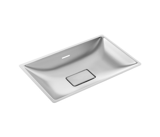 SteelTec washbasin Kiel 300, polished | mat de CONTI+ | Lavabos