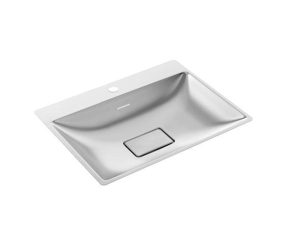 SteelTec washbasin Kiel 400, polished | mat by CONTI+ | Wash basins