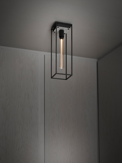 Caged Ceiling 1.0 Large | Polished White Marble | Buster Bulb Tube by Buster + Punch | Ceiling lights