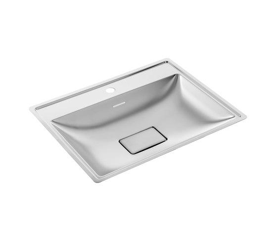 SteelTec washbasin Kiel 430, polished   mat by CONTI+   Wash basins