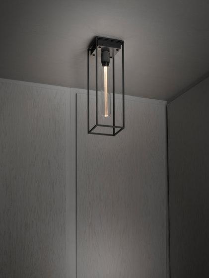 Caged Ceiling 1.0 Large | Brushed Steel | Buster Bulb Tube de Buster + Punch | Plafonniers
