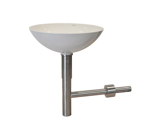 Countertop washbasin with self-supporting siphon, 300 chrome by CONTI+ | Wash basins