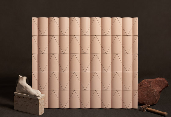 Flutes and Reeds by KAZA | Concrete tiles