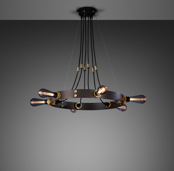 Hero Light | Graphite | Brass by Buster + Punch | Suspended lights