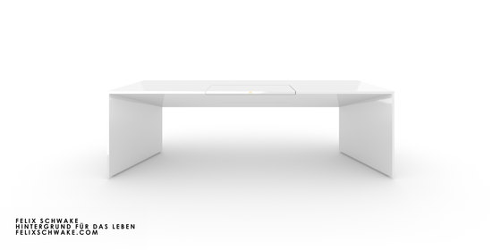 DESK I-I special edition - Piano lacquer white by Rechteck | Contract tables