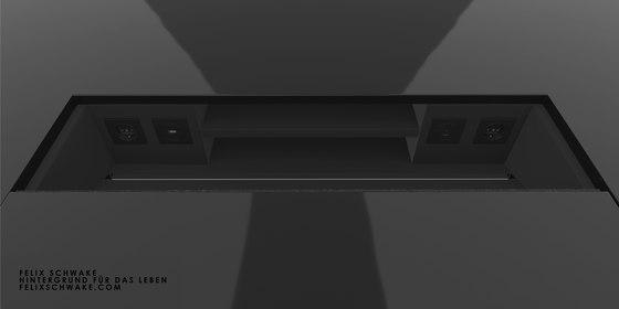ESCRITORIO I-I edición especial - Laca para piano negra de Rechteck | Mesas contract