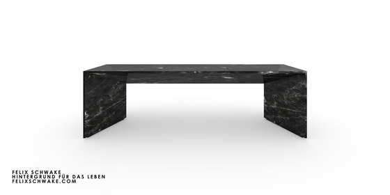 ESCRITORIO I-I edición especial - Mármol negro de Rechteck | Mesas contract