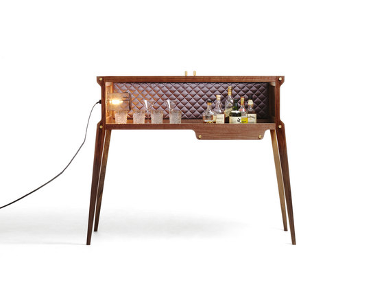 ROCKSTAR  / Walnut/ Grey Berry Silk by Buster + Punch | Drinks cabinets