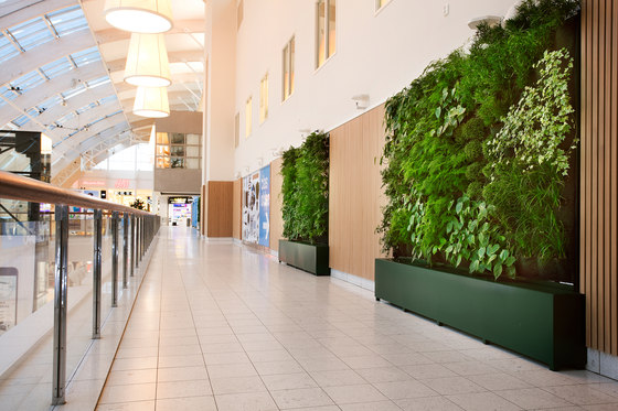 Indoor Vertical Garden | Body Shop Nacka Forum by Greenworks | Plant pots