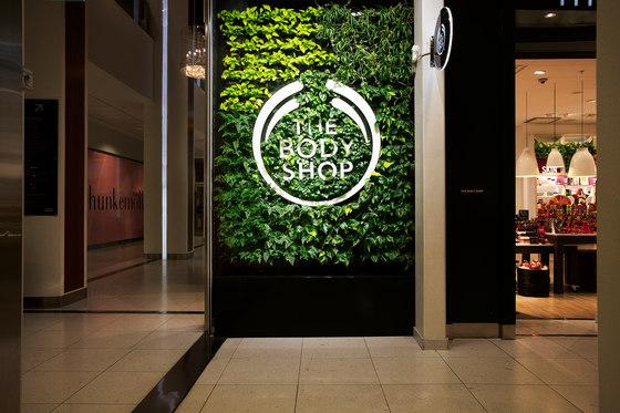 Indoor Vertical Garden | Body Shop Nacka Forum by Greenworks | Plant pots